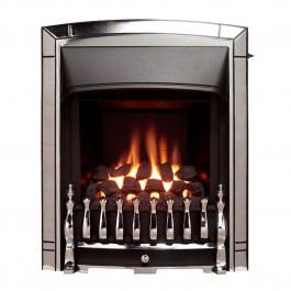 Beautiful Valor Dream Slimline Convector Chrome Gas Fire