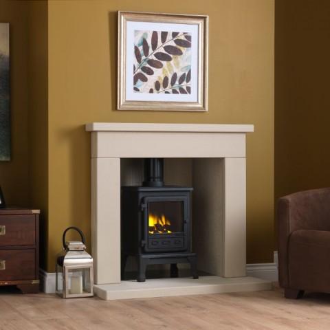 "Gallery Durrington 48"" Stone Inglenook Fireplace"