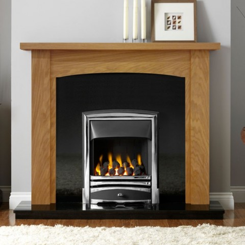 "Gallery Abbey 54"" Dark Oak Fireplace Suite"