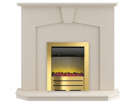 Fireplaces 4 Life Abbey 48'' Colorado Electric Fireplace Suite