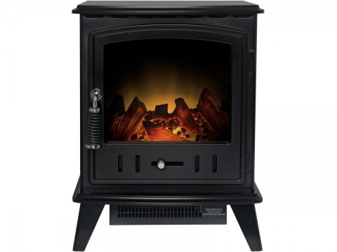 Adam Aviemore Electric Stove Black Textured