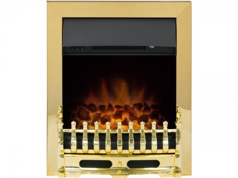 Adam Blenheim Inset Electric Fire Brass