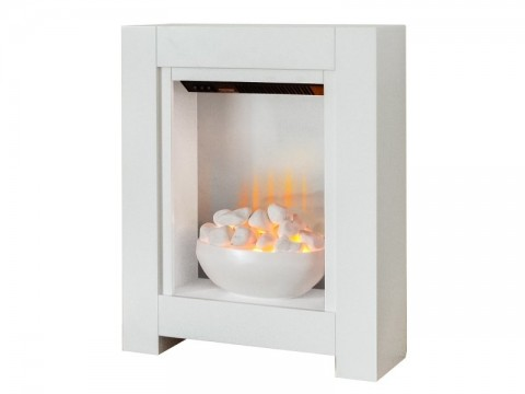Fireplaces 4 Life Monet 23'' White Electric Fire
