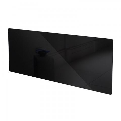 Adam Vitreo Large Black Glass Radiator Cover