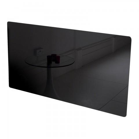 Adam Vitreo Medium Black Glass Radiator Cover