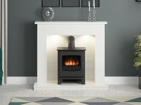 """FLARE Collection 48"""" Allensford Inglenook Fireplace Suite"""