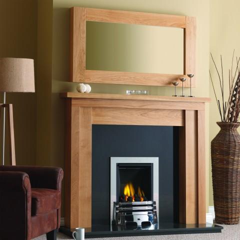 GB Mantels Ashford Oak Fireplace Suite