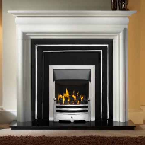 Gallery Asquith Limestone Fireplace Includes Henley Cast Iron Arch