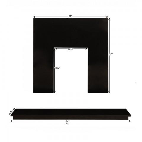 Uk S Best Price Black Granite Back Panel Amp Hearth Free