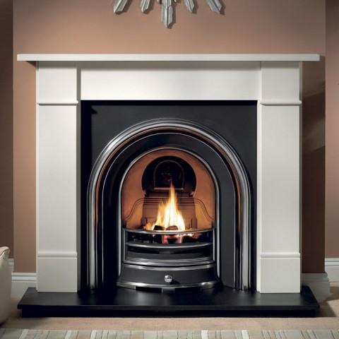 Gallery Brompton Stone Fireplace Includes Landsdowne Cast Iron Arch