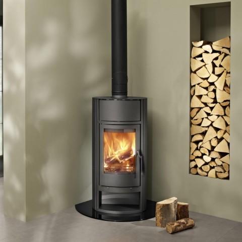 Broseley Sicilian Black/Brass Electric Fire