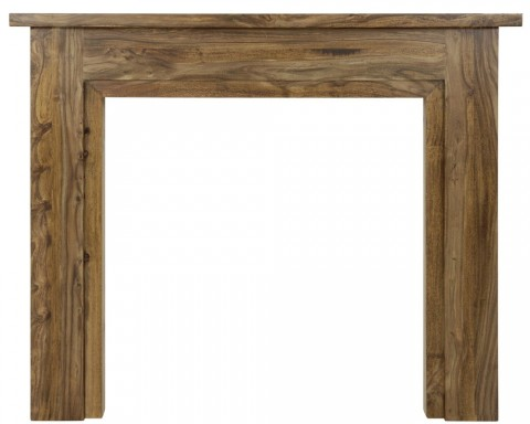 Carron Colorado 55'' Natural Wood Fire Surround Sheesham