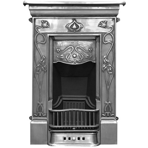 Carron Crocus Combination Cast Iron Fireplace Suite Full Polished