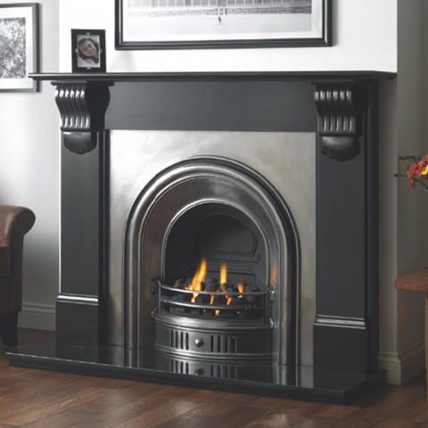 Cast Tec Anson Full Polish Fireplace