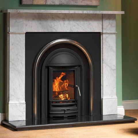 Cast Tec Flat Victorian Carrara Marble Fireplace