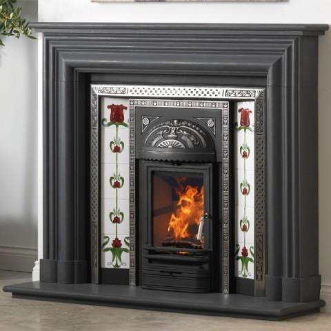 Cast Tec Flat Kensington Slate Stone Fireplace