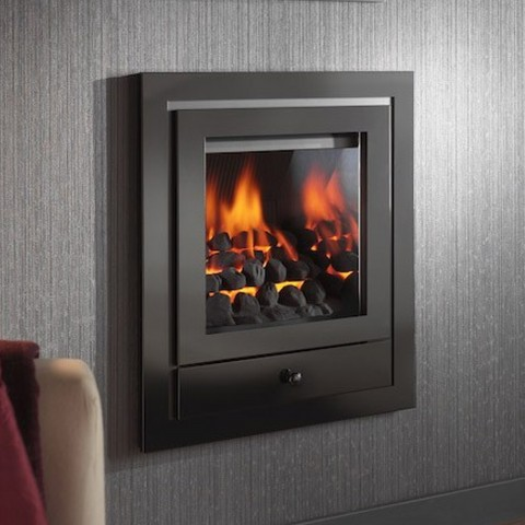 Modern gas fire crystal fires royale hole in the wall for Modern gas fireplace price