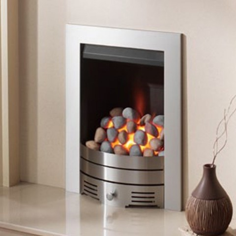Crystal Fires Super Radiant Contemporary Chrome