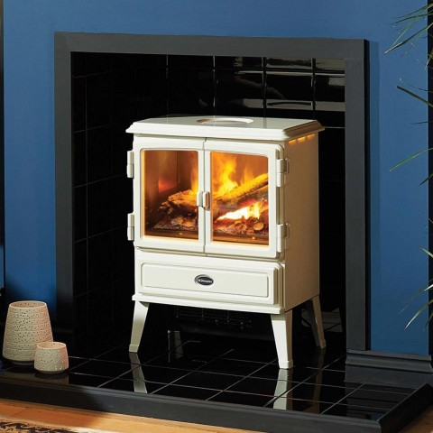 Dimplex Auberry Cream White Electric Opti-myst® Stove