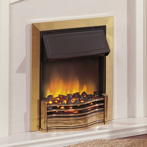 Dimplex Danesbury Brass Effect Optiflame Inset Electric Fire