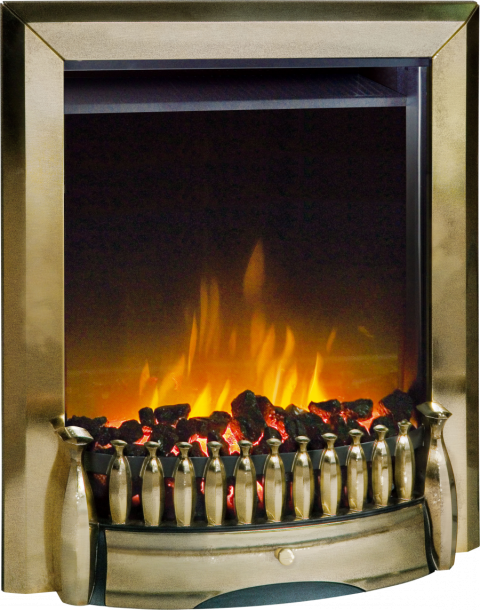 Dimplex Exbury Antique Brass Optiflame® LED Electric Fire