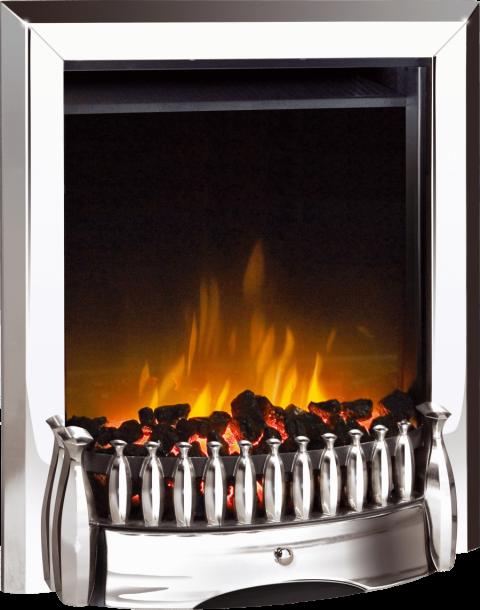 Dimplex Exbury Chrome Optiflame® Electric Fire