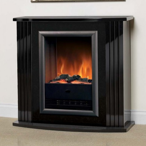 Luxury Dimplex Mozart Gloss Black Optiflame Electric Fireplace Suite Fantastic Price