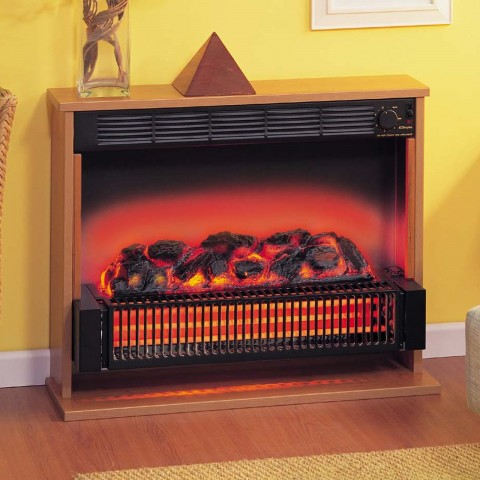 Traditional Cherry Surround Dimplex Theme Radiant Bar