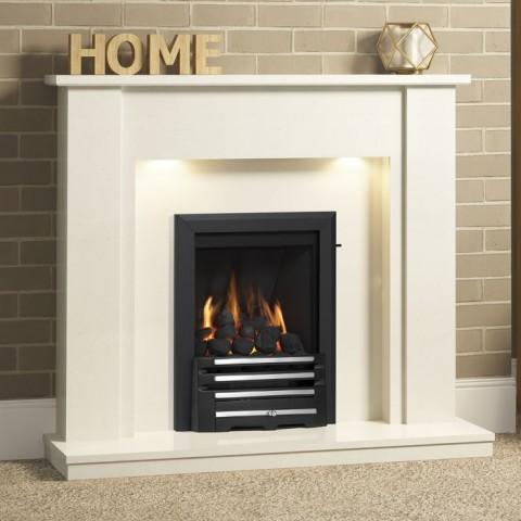 """Be Modern Elda 48"""" Marble Fireplace Suite"""