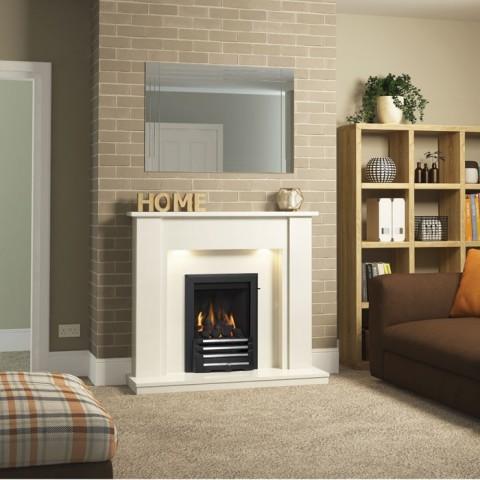 "Be Modern Elda 48"" Electric Fireplace Suite"