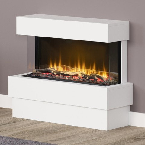 """FLARE Collection 36"""" Avant 3 sided Floorstanding Electric Fireplace"""