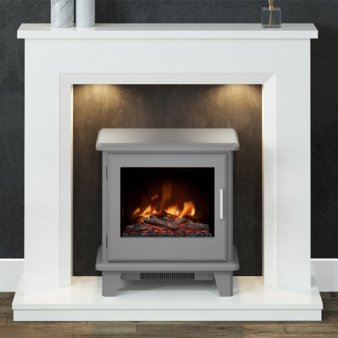 """FLARE Collection 46"""" Millgate Micro-Marble Inglenook Suite"""