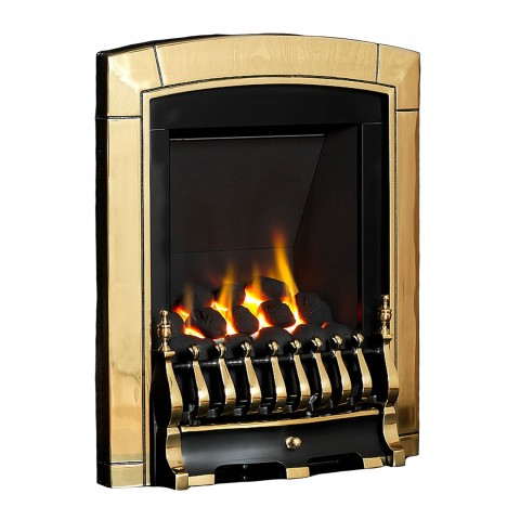Flavel Caress Slimline Inset Brass Gas Fire