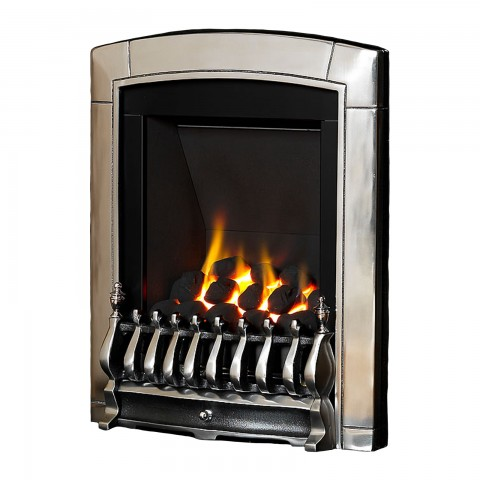 Flavel Caress Slimline Inset Silver Gas Fire