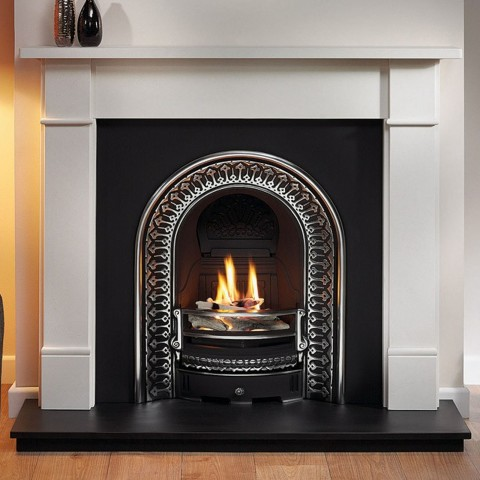 Gallery Brompton Limestone Fireplace Includes Regal Cast Iron Arch