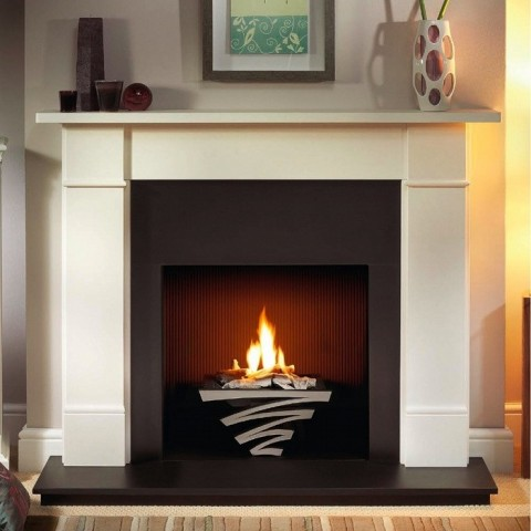 Gallery Brompton Limestone Fireplace Includes Optional Astra Fire Basket
