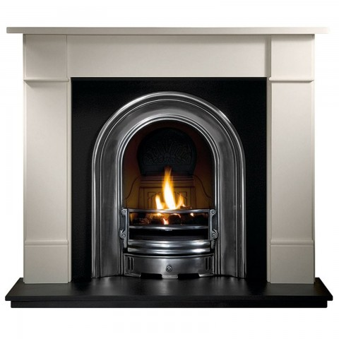 Gallery Brompton Stone Fireplace Includes Coronet Cast Iron Arch