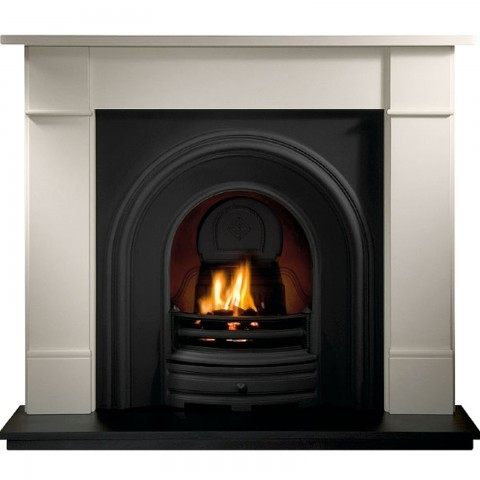 Gallery Brompton Limestone Fireplace Includes Crown Cast Iron Arch