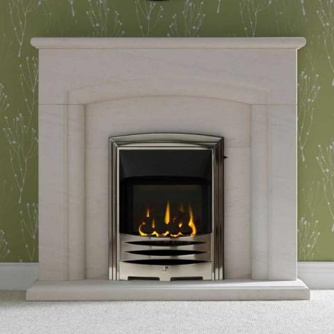 "Gallery Carlton 48"" Portuguese Limestone Fireplace Suite"