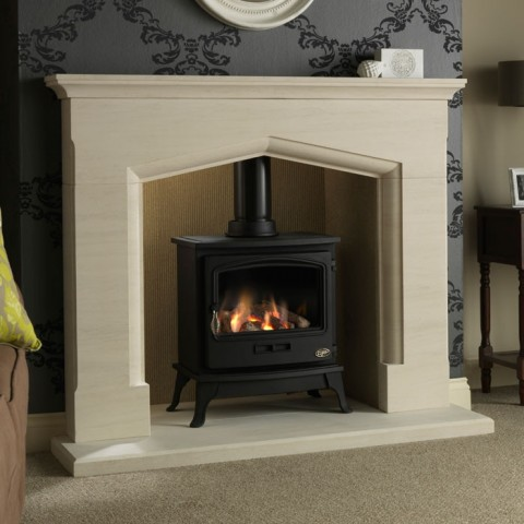 Gallery Coniston Stone Fireplace & Optional Tiger Gas Stove