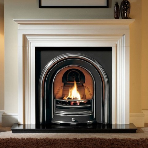 Gallery Evesham Limestone Fireplace Includes Jubilee Cast Iron Arch