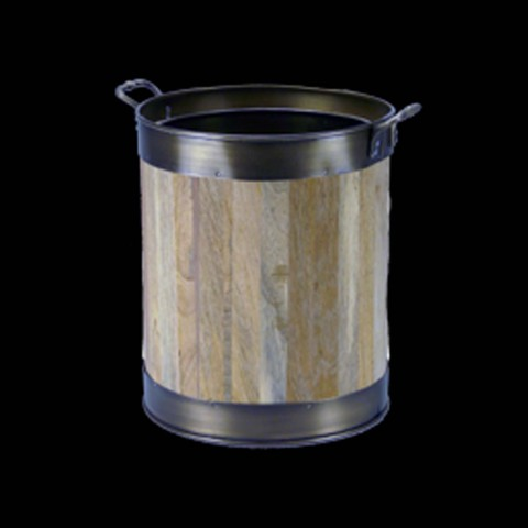 Gallery Log Cask With Antique Trim