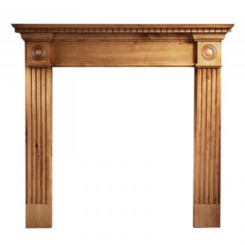 """Gallery Roundel Pine Wooden 44"""" Fireplace Surround/Mantel"""