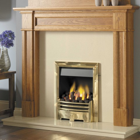 GB Mantels Highbury Celtic Oak Fireplace Suite