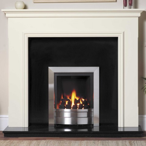 GB Mantels Queensbury Olde England White Fireplace Suite