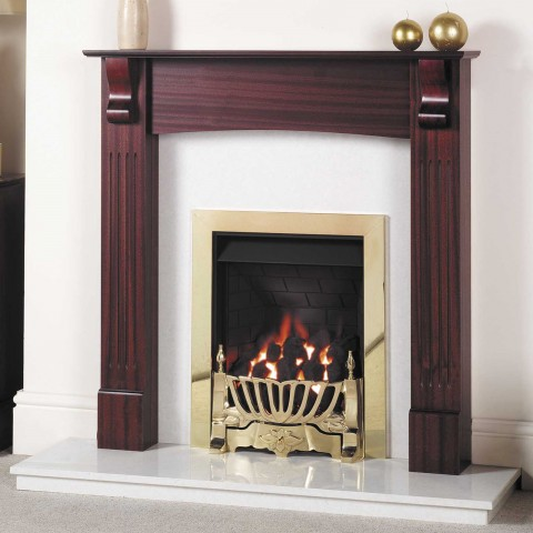 GB Mantels Richmond Red Mahogany Fireplace Suite