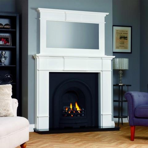 GB Mantels Harrogate Oak Fireplace Suite
