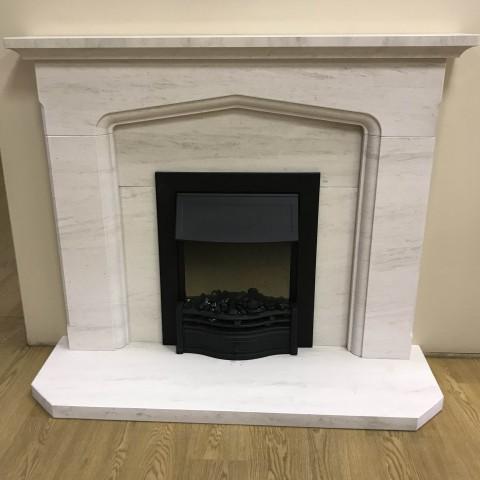 """F4L Cusworth 49"""" Limestone Fireplace Suite"""