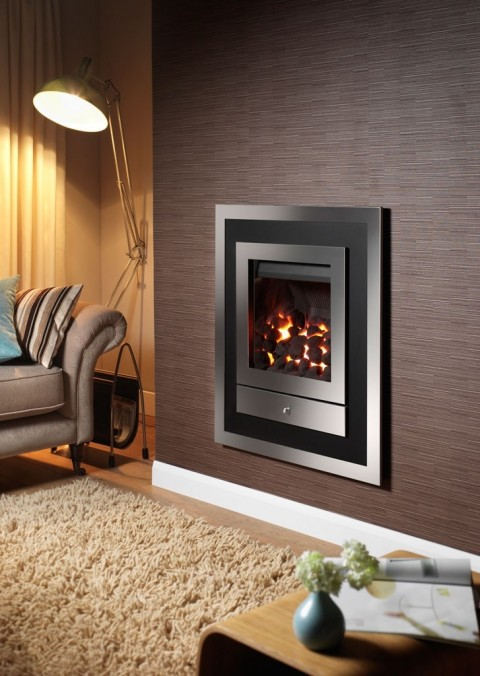 Crystal Fires Option 3 Hole In The Wall Gas Fire
