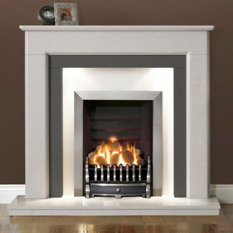 Marvelous Gallery Riverslea 48 Arctic White Marble Fireplace Interior Design Ideas Tzicisoteloinfo